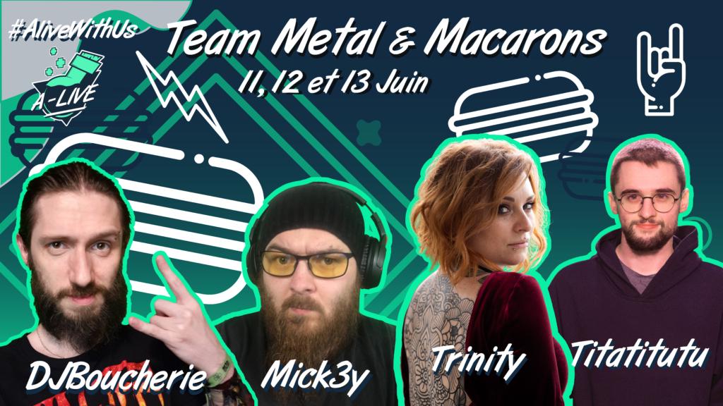 Team metal&macarons a-live
